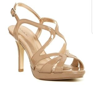 Tahari Balthasar Nude Strappy Dress Sandals
